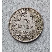 "Германия 1/2 марки, 1916 ""A"" - Берлин 7-10-35"