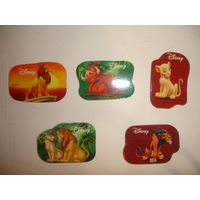 Киндер Магниты на холодильник 2-х сторонние набор 5 шт из серии Король лев