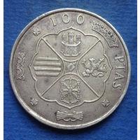 Испания 100 песет 1966 (67) серебро