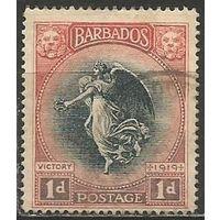 Барбадос. Богиня Победы. 1920г. Mi#112.