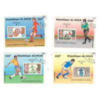 Нигер. Футбол. Чемпионат мира 1986. 4 марки