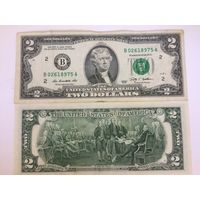 2 доллара США 2009 года B 02618975 A