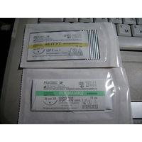 Нить хирургическая 0.75 м  с иглой из НАЗ ВС 2 вида:кетгут и полиамид.