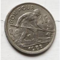 Люксембург 1 франк, 1935 4-6-8