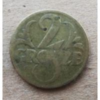 Польша 2 гроша, 1923г.  (D-4.2)