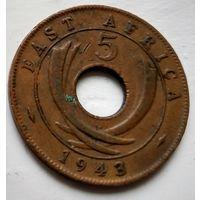 Британская Восточная Африка 5 центов, 1943  2-2-33
