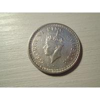 Британская Индия, 1/2 рупии 1943