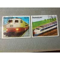 Парагвай 1979. 100 летие электропоездам. Воздушная почта. Полная серия.