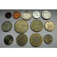 СНИЖЕНИЕ ЦЕНЫ!!! Лот из 13-ти монет Турции без повторов 1970-2005 гг.