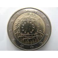 Ирландия 2 евро 2015 г. 30 лет флагу Европейского союза. (юбилейная) UNC!