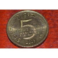 Шри-Ланка 5 рупий 2005