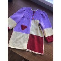 Платье вязаное на девочку 2-3 года