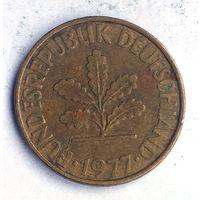 Германия (ФРГ), 10 пфеннигов 1977 (D)
