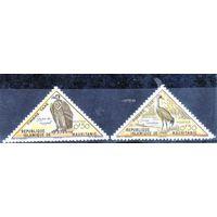 Мавритания. Ми 26, 27. Птицы. 1963.
