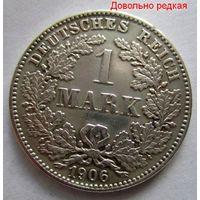Германия. 1 марка 1906 G. Серебро. Карлсруэ! . 116