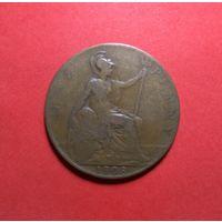 Великобритания 1 пенни, 1908. Эдуадр VII.