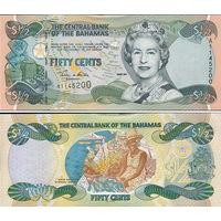 Багамские острова ( Багамы ) 1/2  доллара  2001  год UNC