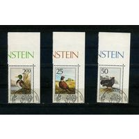 Лихтенштейн 1990г, промысловые птицы, 3м.