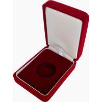 Футляр для золотой монеты с капсулой 30.00 mm (50 руб., Au) бархатный красный