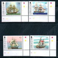 Корабли Гибралтар 2006 год серия из 4-х марок