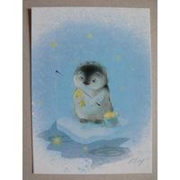 Современная открытка, Бабок Екатерина, Где-то на белом свете; чистая (рыбалка).