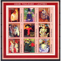 2001 Гвинея-Бисау. Художник Анри де Тулуз-Лотрек