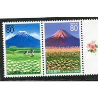 Япония. Вулкан Фудзияма, сцепка