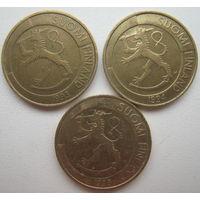 Финляндия 1 марка 1993, 1994, 1998 гг. Цена за 1 шт. (v)