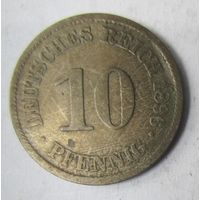 Германия. 10 пфеннигов 1896 A.  2-104