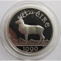 Ирландия, 5 экю, 1990, серебро, пруф