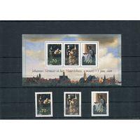 Нидерланды. 1996 Живопись Ян Венмеер ** - голландский художник. Выставка живописи Вашингтон - Гаага