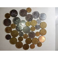 Монеты Украины 36 шт.