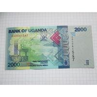Уганда. 2000 шиллингов (образца 2010 года, P50a, UNC)