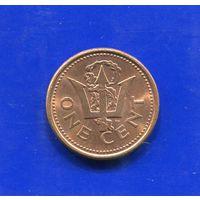 Барбадос 1 цент 1993