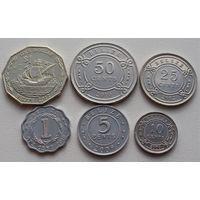 Белиз. набор 6 монет 1,5,10,25,50 центов 1 доллар 2000 - 2012 год