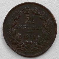 Люксембург 2 1/2 сантим 1901