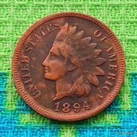 США 1 цент 1894 года, Индеец.