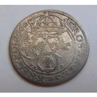 6 грошей 1660  TLB Ян Казимир