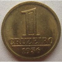 Бразилия 1 крузейро 1956 г. Герб на аверсе