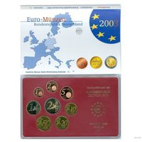 Годовой набор евро монет 1 2 5 10 20 50 центов 1 2 евро 2003 Германия A  Proof