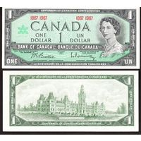 Канада 1 доллар 1967 год   AU  100 летие конфедерации