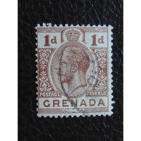 Британская Гренада 1913 г. Король Георг V.