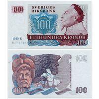 Швеция. 100 крон (образца 1985 года, P54c, XF)