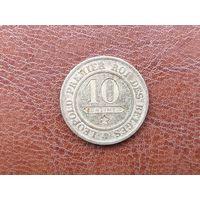 10 сантимов 1862 Бельгия ( Без точки после PREMIER )