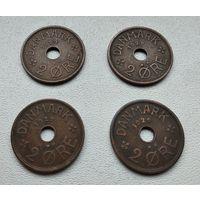 Дания 2 эре, 1929 6-8-17.18.21.27