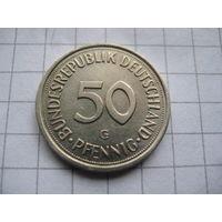 ГЕРМАНИЯ  50 ПФЕННИГОВ 1990 ГОД  G