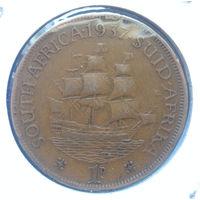 Южная Африка Британский доминион 1 пенни 1937 Георг VI
