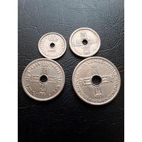 Норвегия набор монет 10 25 50 1