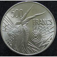 1к Центральная Африка 500 франков 1976 E В КАПСУЛЕ (391) распродажа коллеции