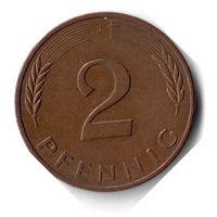 Германия. 2 пфеннига. 1982 J